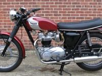 This is a very well restored 1970 Triumph Motorcycles