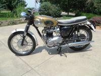 Classic Triumph Bonnevilles in their original condition