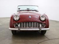 1960 Triumph TR31960 Triumph TR3 in burgundy with black