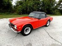 1972 Triumph TR6 Convertible. Very nice mostly original