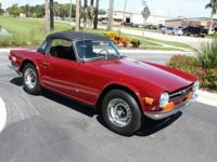 1972 Triamph TR6 just fully serviced with new tires,