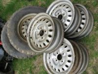 OEM used steel wheels for Honda 600- Sedan and Coupe,