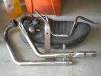 Spare parts for sale off of a 1971 Triumph Trophy TR6C.