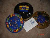 This is a trivia game made by Mattel tin round box call