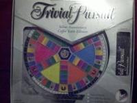 TRIVIAL PURSUIT SILVER ANNIVERS ARY COFFEE TABLE