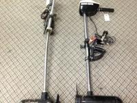 We have 2 trolling electric motors available. One is a