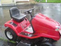Troy Bilt 14 HP Hydro Trans Riding Tractor. Runs good.