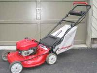 "Troy-Bilt 21"" 6.5 HP electric start mower. Turn the key"