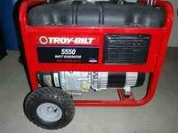 FOR SALE TROY- BILT Generator Model 01919 Almost new