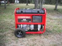 TROY-BILT 5550 WATT PORTABLE GENERATOR, ONLY USED