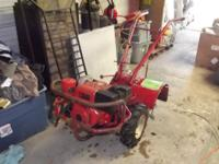 Have for sale a Troy Bilt Horse rear tine tiller. 8hp