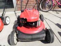 this is a 20in troy bilt lawn mower. it has a 6.75 hp