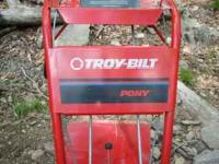 Troy-Bilt Pony Tiller Like New, Rear Tine, Runs great,