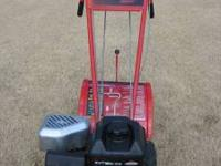 Troy-Bilt rear-tine rototiller with its dependable