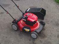 "FOR SALE: NEWER TROY BILT 21"" PUSH MOWER. I BOUGHT THIS"