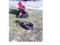 5 Hp Troy Bilt Self Propelled Chipper Vac Starts runs