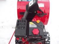 This is a new snow blower that was only used once. I
