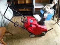 In excellent condition. Only used this past winter. 208