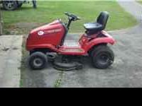 Troy-Bilt LXT riding lawn mower. 14 hp with 38 inch