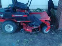 ive got a troy bilt rideing mower for sale runs