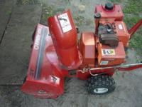 Snowblower is in great shape. Motor runs, carb and