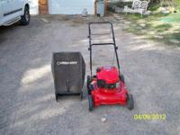 "Selling a good used 21"", 6.75 gas powered lawn mower."
