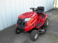Very nice TroyBilt bronco lawn tractor. A little over