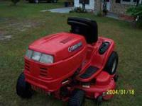"50 in. troybuilt ""horse"" lawn tractor 650.00 and 42 in."