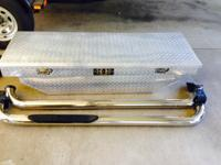 4 sale: aluminum diamond plate truck tool box & Nerf