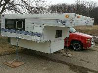 Truck bed Camper, decent shape 53578 is not the area