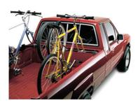 THIS IS A THREE BIKE RACK DESIGNED FOR A SMALL PICKUP