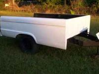 "made from a 1964 ford long bed, lights work, 2"" hitch,"