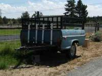 Old truck bed utility trailer. Call , leave message if