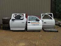 truck doors 97 to 03 ford doors ,white ,,no rust or