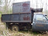 good used dump body with hoist body only used for wood
