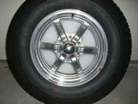 4 EAGLE RIMS AND P265/70R17 TIRES, IN GREAT CONDITION.