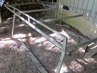 "Stainless Steel Longbed Pickup Rack.  163"" long x"