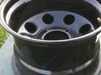 "Set of 4 truck rims. 15x10 with 4"" back spacing. 5x5.5"