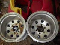 Rims- 15 x 12 with 6 lug Toyota/ Chevy pattern offsets