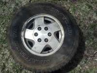 4 Rims and tires off a 1995 GMC Sierra 1500 Call Zac