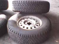 I HAVE A SET OF 4 Goodyear WranglerTruck/SUV TIRES AND