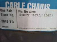 I have 5 boxes of new tire cables selling for 40.00 per