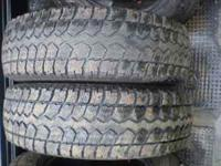 I HAVE FOUR 225/75-16 SNOW TIRES FOR PICK-UP OR PLOW