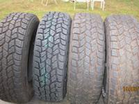 Mastercraft Courser AXT tires made by cooper, 3 tires