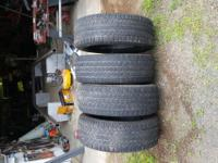 Dodge Dakota Truck tires set of 4 asking $100.00 must