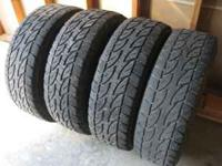 LT 265x75Rx16 Bridgestone A/T Duelers 40-50% tread on