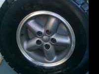 4 Used Truck tires 31X10.50R15LT Rims are off a 2000