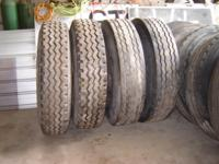 For Sale:  10 semi truck tires with Steel Dayton rims