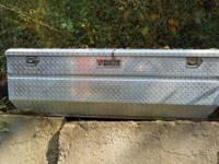 "Aluminum diamond plate toolbox 60"" long,27"" wide and"