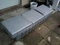 Plastic toolbox for full size truck. Good condition. No